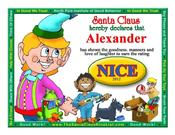 <strong>The new free Santa Claus Nice Certificate with a little boy image can be personalized and printed in seconds with nothing to download.</strong>
