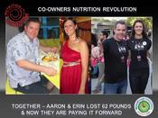 <strong>Erin Raines & Aaron Behunin Co-Owner of Nutrition Revolution lost 62 pounds since attending The Weight Loss Challenge. They love to teach their clients how to have the same success losing weight.</strong>