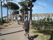 <strong>Biking along the Appian Way, outside of Rome.</strong>
