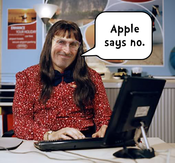 One of several funny images Philip Lemon has included with his open letter to the CEO of Apple Inc. Hopefully Tim Cook will say yes and approve the app.