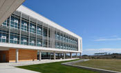 <strong>UNC's 63,190-square-foot, environmentally sustainable Coastal Studies Institute includes a research building with classrooms, research labs and offices, and a separate marine service facility.</strong>