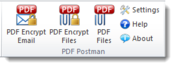 <strong>The PDF Postman toolbar, shown here with Outlook 2010, makes it easy for senders and recipients to receive important content securely, without installing expensive and complex certificates.</strong>