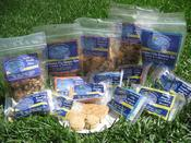 Safe from 7 of the top 8 identified food allergens, Bee Nut Free offers delicious granola bars, trail mix, and cookies.