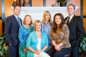 <strong>Sales counselors for the new Brightwater homes in Huntington Beach, left to right: Patrick Loyd, Louise Easton, Polly Barnes, Lori Schulte, Luci Ice and Joe Schulte.</strong>