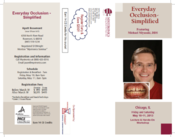 Chicago Dental Course Brochure Front and Back