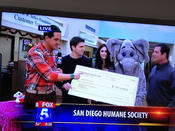 Underground Elephant is recognized for their contribution to The San Diego Humane Society. This donation will help to provide new homes to thousands of animals in the San Diego community.