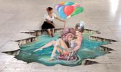 <strong>3D Street Painting - We Talk Chalk - FingeMK - Melanie Stimmell</strong>