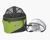 <strong>The Cocoon bike basket or car seat is available in green.</strong>