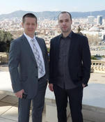 Left, Slobodan Veselinovic, General Manager of Galeb Group. Right, Stefan Certic, Chief Technology Officer, CS Networks