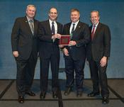 <strong>Don Pettit (second from left), NASA astronaut and chemical engineer, was honored with a 2013 Federal Engineer of the Year Award (FEYA) at this year's 34th Annual FEYA Awards Ceremony on Feb.21. (NASA)</strong>