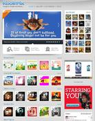<strong>The KoolrPix Home Page features Gallery templates in addition to showcasing Just Shared Koolrs created by the KoolrPix community. The iKoolr Image Editor is also launched from the KoolrPix home page.</strong>