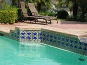 <strong>This stunning pool is possible using all weather porcelain bodies, uniquely found for Mexican Talavera and Catalina tile at Latin Accents</strong>