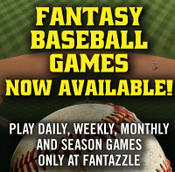 <strong>Play fantasy baseball games at Fantazzle every day and week for cash prizes.</strong>