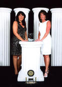 <strong>Kathy Russo, General Manager and Patricia Earl, Director of Sales of Homewood Suites Newburgh - 2013 Connie Pride Hotel Award of Merit</strong>