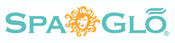 <strong>New SpaGlo logo features a woman's face in a sunburst with soft teal and tangerine colors.</strong>