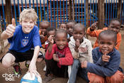 <strong>Ethan hand delivers new soccer balls to kids in South Africa, 2012</strong>