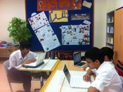 <strong>This picture shows Qatar Academy students taking the Arabic Proficiency Test from Avant Assessment.</strong>