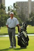 <strong>Golf Professional Chad Collins with FOURTEEN GOLF Staff Bag</strong>