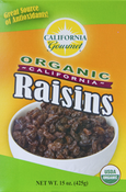 <strong>Thompson seedless organic raisins in 15oz. box or 6x1.5oz boxes for a quick snack</strong>