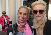 <strong>Vivian Van Dijk and Scottish actress, philanthropist and artist, Tilda Swinton</strong>