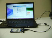 <strong>Clone system drive to a USB hard drive thru a $10 USB connector</strong>