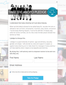 <strong>BeauCoo: Take the #BoPo Pledge Screen Shot</strong>