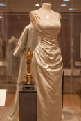 <strong>A highlight of the Michener exhibit is the academy award Grace Kelly won in 1955 for Country Girl and the Edith Head designed satin dress and coat she wore when she received it.</strong>