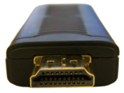 <strong>The MarquisCast is an HDMI dongle that will plug directly into your HDTV's HDMI port.</strong>
