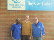 <strong>Cotter Club Program Director Marlon Finley (l), TurboTitleLoan.com Creative Director Brian Noonan (c) and Cotter Club Director Jim Pottinger (r).</strong>