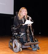 <strong>Dr. Danielle Sheypuk addressing the ReelAbilities Film Festival, NYC</strong>