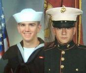 <strong>HM3 FMF Michael Cox and Lance Cpl. Christopher Harlan</strong>