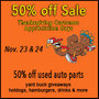 Thanksgiving Customer Appreciation Days At Cash-n-Carry Salvage Yard