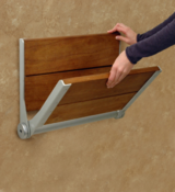 <strong>Brazilian Walnut Shower Seat - elegant, beautiful and useful!</strong>