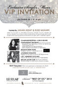 Invitation to Holiday Singles Mixer in Newport Beach 12/04/2013