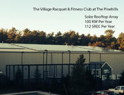 <strong>Rooftop solar array at The Village Racquet & Fitness Club at The Pinehills</strong>