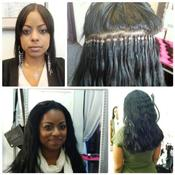 <strong>Weft Hair Extensions in Chicago, applied by stylist Jordan.</strong>