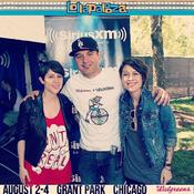 <strong>Phocial Co-Founder Rob McCarty in the media tent at Lollapalooza 2013 with Canadian Indie Rock duo Tegan &amp; Sara.</strong>