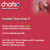 <strong>Online Dating special offer with Chatso.com</strong>