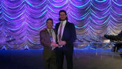 <strong>Honeywell Awards American Total Protection &quot;Dealer of the Year&quot; 3rd Place. Accepting the award on behalf of ATP were principals Dominic Prete and Lawrence (&quot;Rence&quot;) Coassin Jr.</strong>