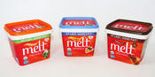 MELT Organic's line of spreads, each featuring organic virgin coconut oil.