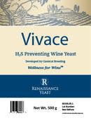 <strong>Renaissance Vivace wine yeast product label</strong>
