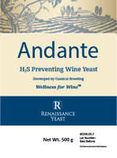 <strong>Renaissance Andante wine yeast product label</strong>