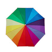 Each panel of the canopy features a different color thus creating a life-sized color wheel.