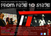 <strong>From Page To Stage: Poetry Teachers NYC February Workshops Flier</strong>