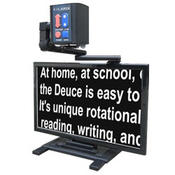 <strong>The Clarix Deuce PLUS Electronic Magnifier with Battery is ideal for reading, writing, and distance viewing at home, at work or in the classroom on the included 22-inch LCD</strong>