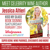 <strong>Kiss My Glass Book Signing and Super Bowl Wine Tasting at Walgreens</strong>
