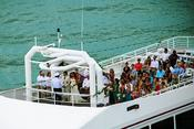 <strong>The SOLARIS yacht in Destin Florida hosts weddings on the open-air sky deck for up to 150 people. Wedding planners, packages, chefs and more included.</strong>