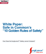 <strong>SurgiLance� safety lancet sharps safety white paper</strong>