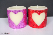 <strong>DIY Glitter Candles</strong>