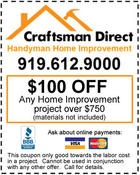 <strong>Discount coupons for your next handyman project. Call us and Save money!</strong>